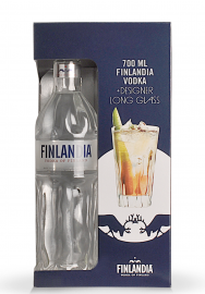 Gift Box Vodka Finlandia + Designer Long Glass (0.7L)